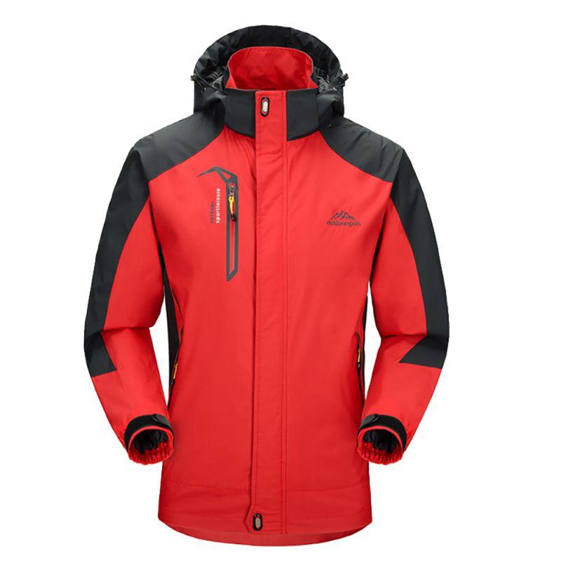 2018 Men Outdoor Waterproof Softshell Jackets Thicken Camping Trekking Hiking Jacket Outdoor Sports Clothing