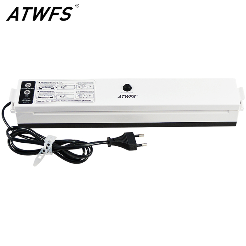 ATWFS Vacuum Food Sealer 220V/110V Packaging Sealing Machine Kitchen Vaccum Sealer Packer With 15pcs Vacuum Bags For Food Saver
