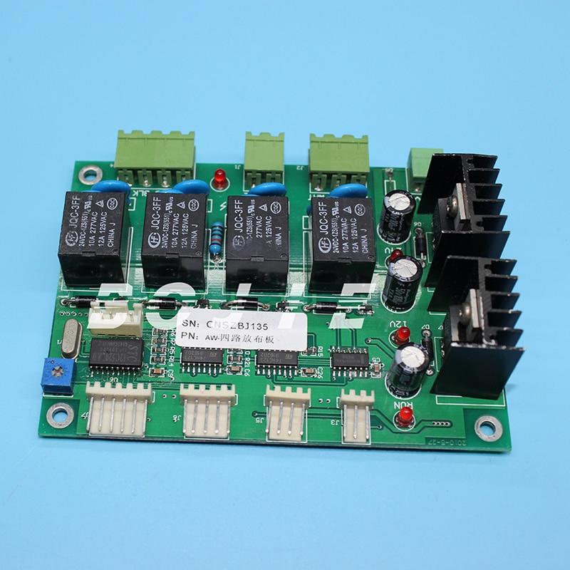 4 ways take-up/feeding board for Allwin solvent printer byhx km1024 8 headboard for allwin konica1024 printer