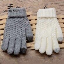2e22c1bc1921e8 Magic Touch Screen Zintuiglijke Handschoenen Voor Vrouwen Handschoenen  Meisje Vrouwelijke Stretch Gebreide Handschoenen Wanten Winter Warm