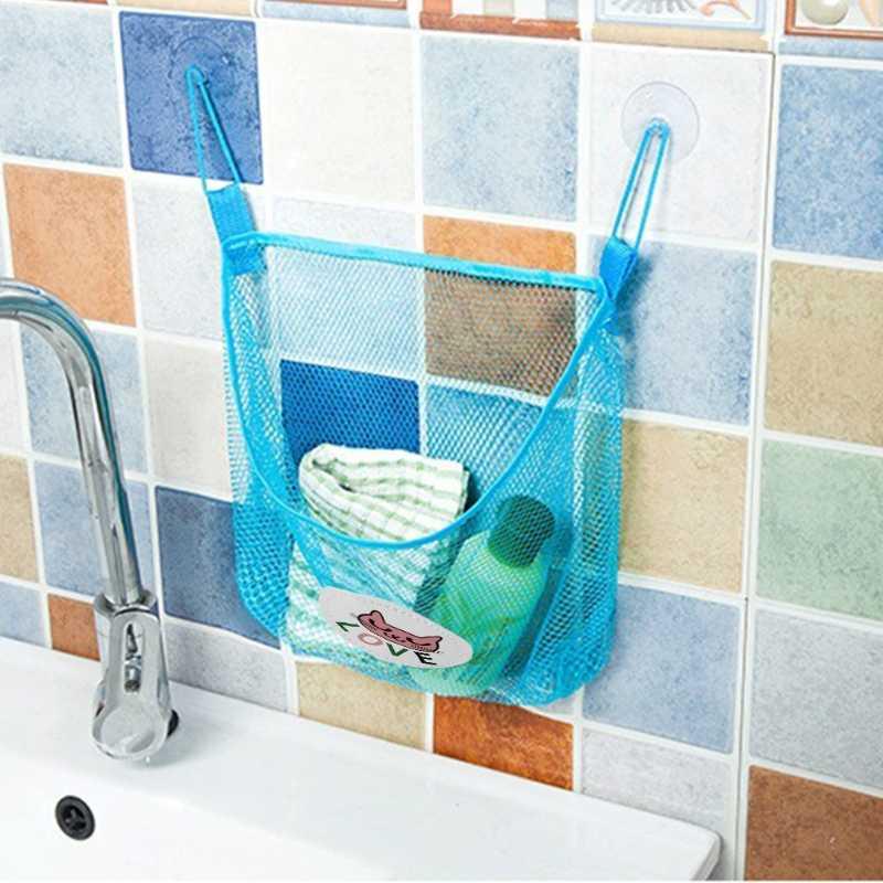 Venda quente Criança Brinquedo de Banho Saco De Armazenamento Organizador Net Cestas De Sucção Do Banheiro Dos Miúdos Saco de Malha #330
