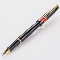 1pc/lot Picasso 923 Roller Ball Pen Black Color Pens Gold Clip 0.5mm Metal Writing/Office Supplies Canetas Stationery 13.9cm