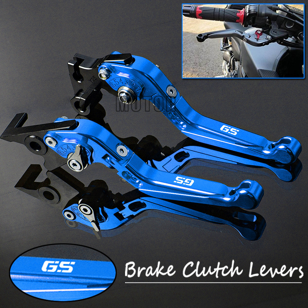 Motorcycle CNC Brake Clutch Levers For BMW G650GS F650GS Dakar F700GS R1200GS LC Adjustable Folding Lever G F R 650 700 1200 GS sale for bmw k1200r sport k1200s motorcycle adjustable folding extending cnc pivot brake clutch levers aluminum moto accessory