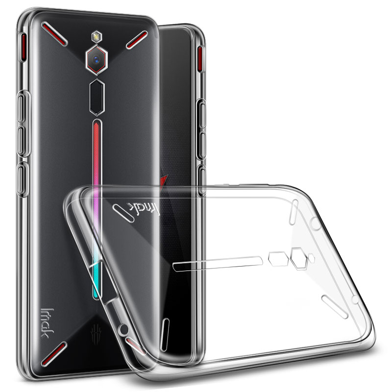 ZTE Nubia Red Magic Case IMAK Clear Silicone Soft TPU Back Cover For ZTE Nubia Red Magic Gaming Phone Case Gift Screen Protector