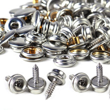 DWCX New Silver 25set Canvas Canopy Snap Stud Cap Boat Marine Cover Fastener Stainless Steel Screw Accessories