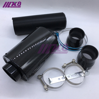 Universal Racing Carbon Fiber Air Intake Pipe Kit/Car Air Filter/High Flow Cold Air Extension System
