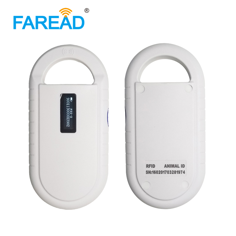 Free Shipping 134.2khz FDX-B ISO 11784/11785 RFID Animal Handheld Reader Pet ID Microchip Scanner