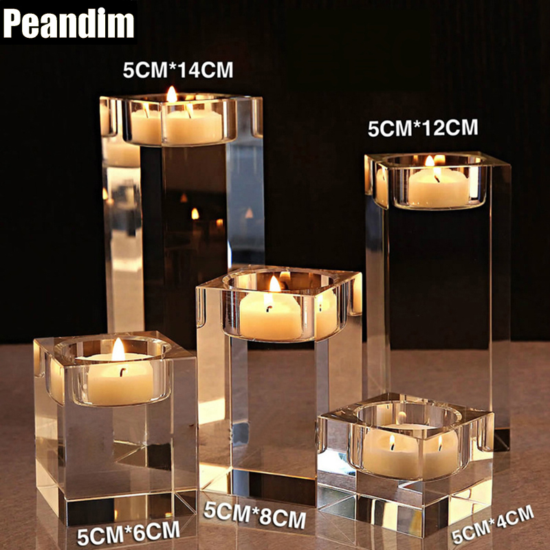 Sensational Us 71 12 20 Off Peandim Elegant Simple Home Decorations K9 Crystal Candlestick Table Centerpieces Wedding Anniversary Crystal Candle Holder In Home Interior And Landscaping Elinuenasavecom