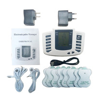Electrical Stimulator Full Body Relax Muscle Therapy Massager Pulse Tens Acupuncture 16pads