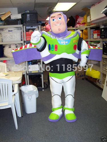 HOT SALE Buzz Lightyear Cartoon animal Mascot Costume Fancy Dress Animal mascot costume free shipping