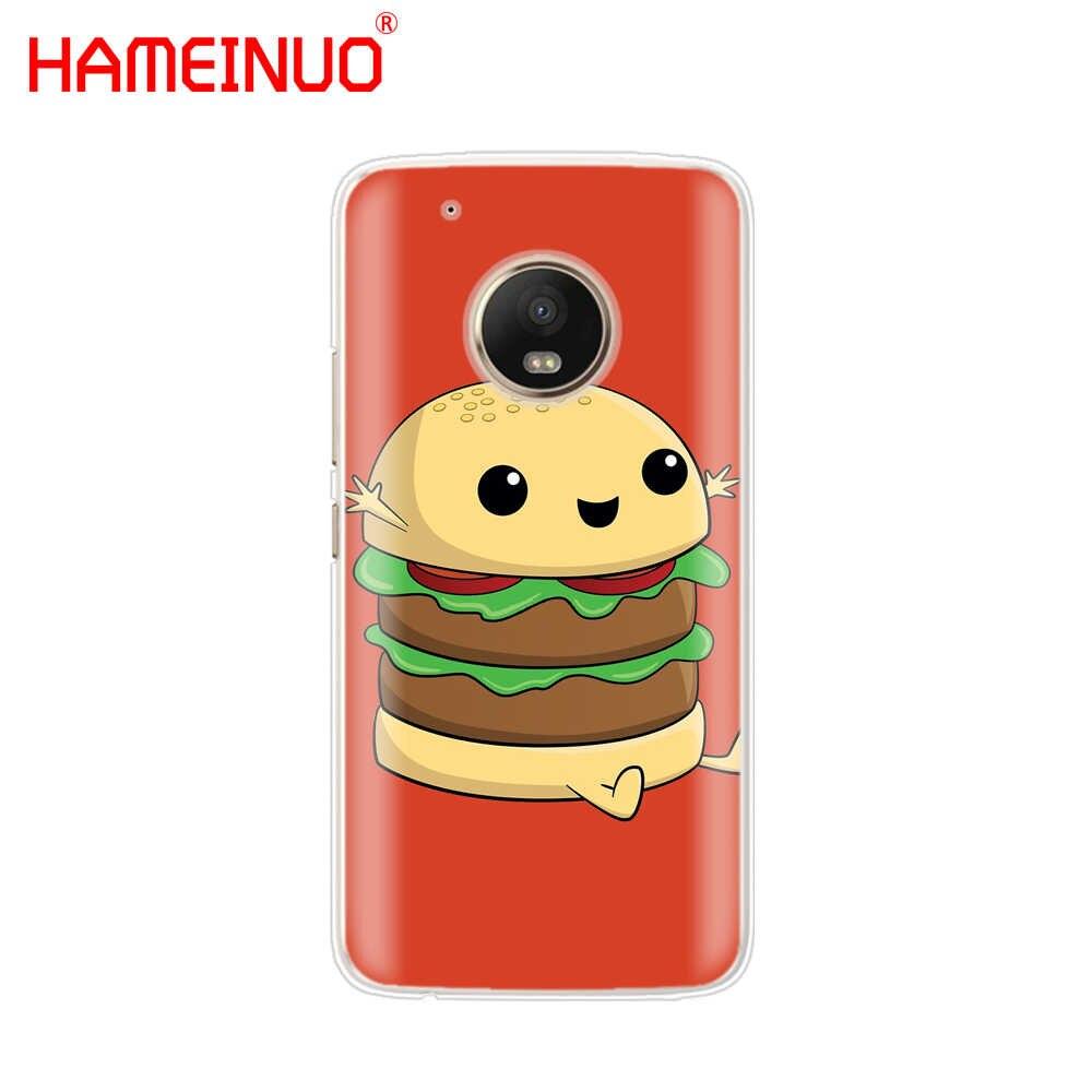 HAMEINUO かわいい食品フライバーガーおかしいケース電話カバーモトローラモト X4 C G6 G5 G5S G4 Z2 Z3 再生プラス