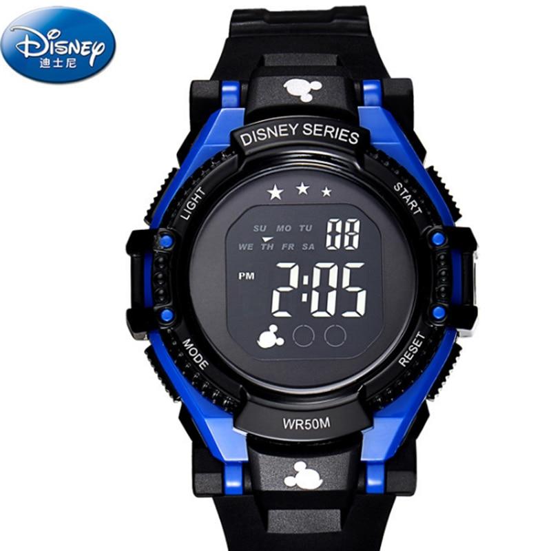 Disney 2016 Sport Watch Fashion Luxury Brand Led Watch Kids Back Light Auto Date Girls Boys