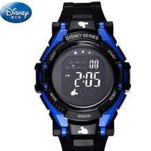 Disney 2016 reloj deportivo marca de lujo de moda led reloj de los niños Back Light Fecha Auto Niños Niñas Deporte Relojes Los Niños Del Reloj relogio