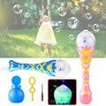 Magic Wand Blow Bubbles Machine Electronic Kids Flashing Music Creative