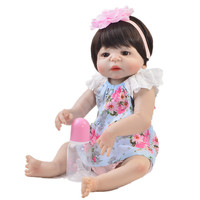 57cm full body Silicone reborn Baby Doll Girl Newbron Lifelike Princess Doll Birthday Girl Gift Bonecas Bebes Reborn Menina
