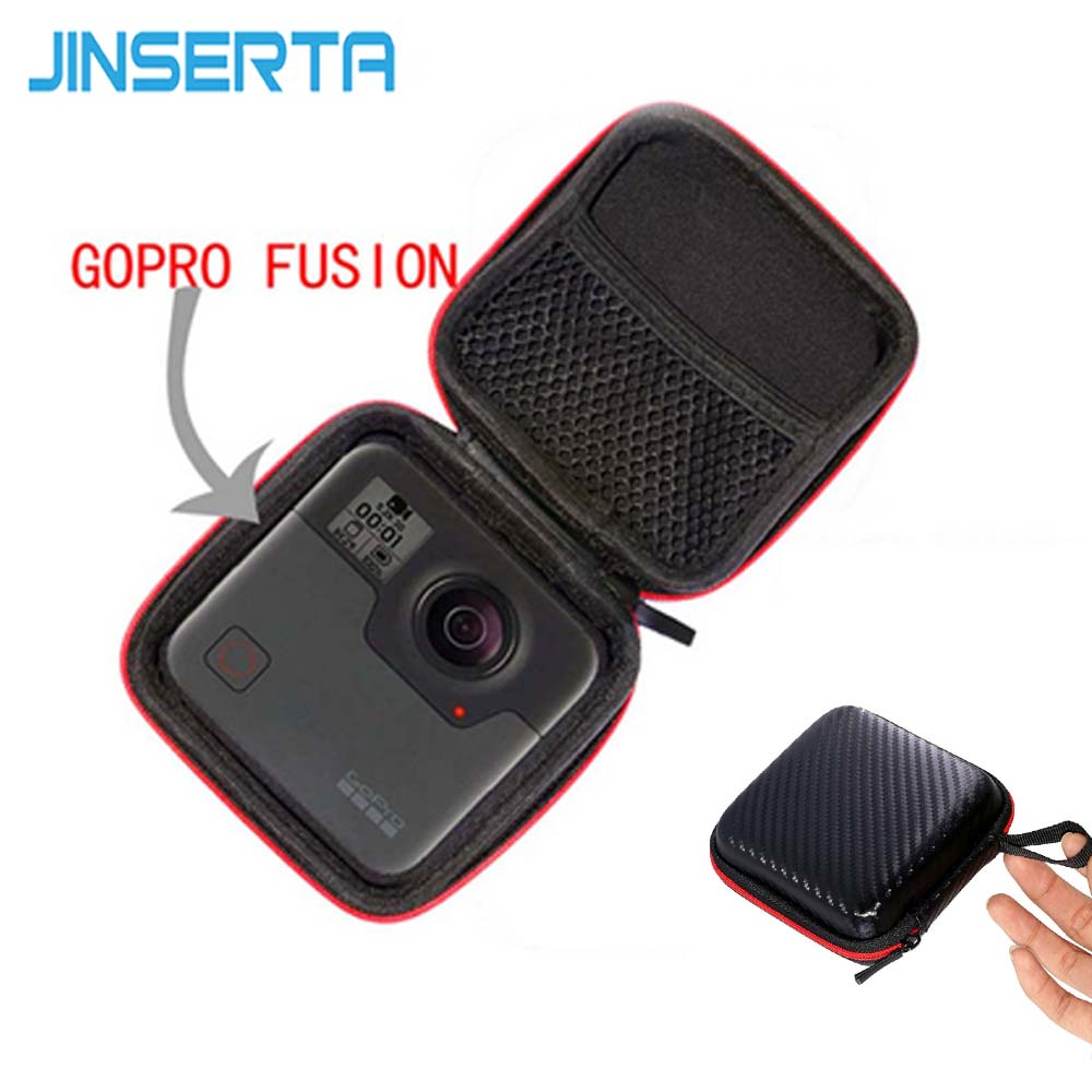 JINSERTA Portable Carry Case Accessory Anti-shock Storage Bag for Gopro Fusion Xiaomi mijia 360 Degree Panoramic Camera