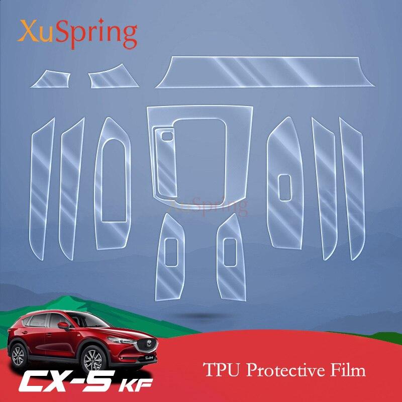 Car Interior Protective TPU Film Coverage Stickers Bright Repair Membrane Styling For Mazda CX-5 CX5 2017 2018 2019 KF