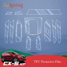 Для Mazda CX5, 2017-2018 2019 KF салона защитная пленка tpu (термополиуретановая пленка) охват Стикеры яркий ремонт мембрана для укладки волос