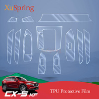 For Mazda CX 5 CX5 2017 2018 2019 KF Car Interior Protective TPU Film Coverage Sticker Bright Repair Membrane Styling