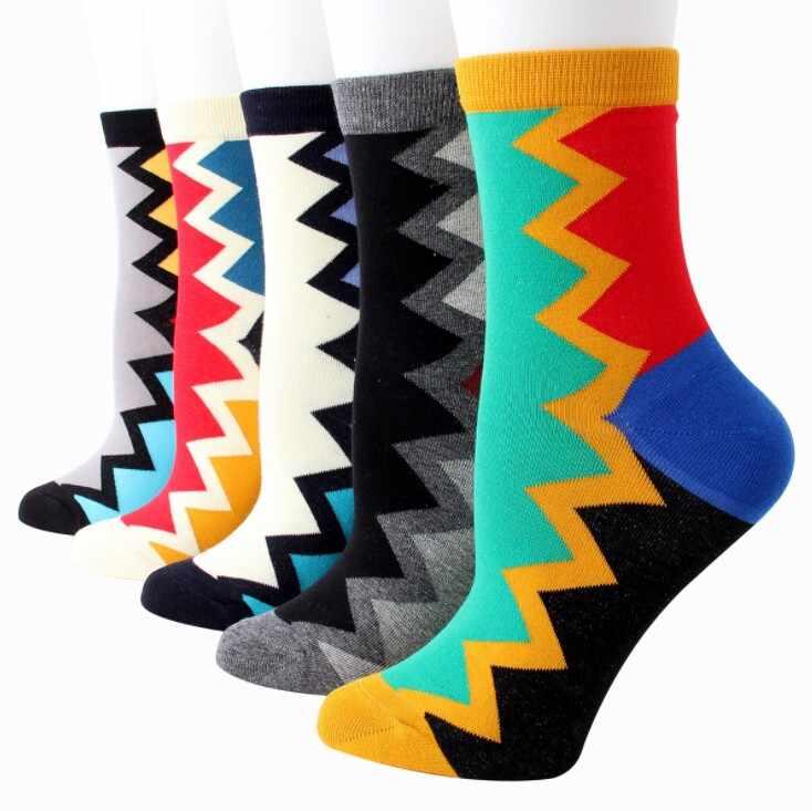 Фото Модные весенние лоскутные носки в стиле Харадзюку женские уличные хлопковые