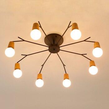 Horn deer spider chandelier Lighting Kitchen Bedroom Bar suspension luminaire industrial Loft Retro chandelier lighting fixtures