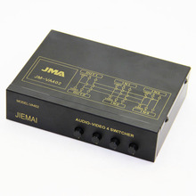 JMA VA-402 Video-Audio 4IN 2OUT AV Switcher 4x3RCA IN 2x3RCA OUT