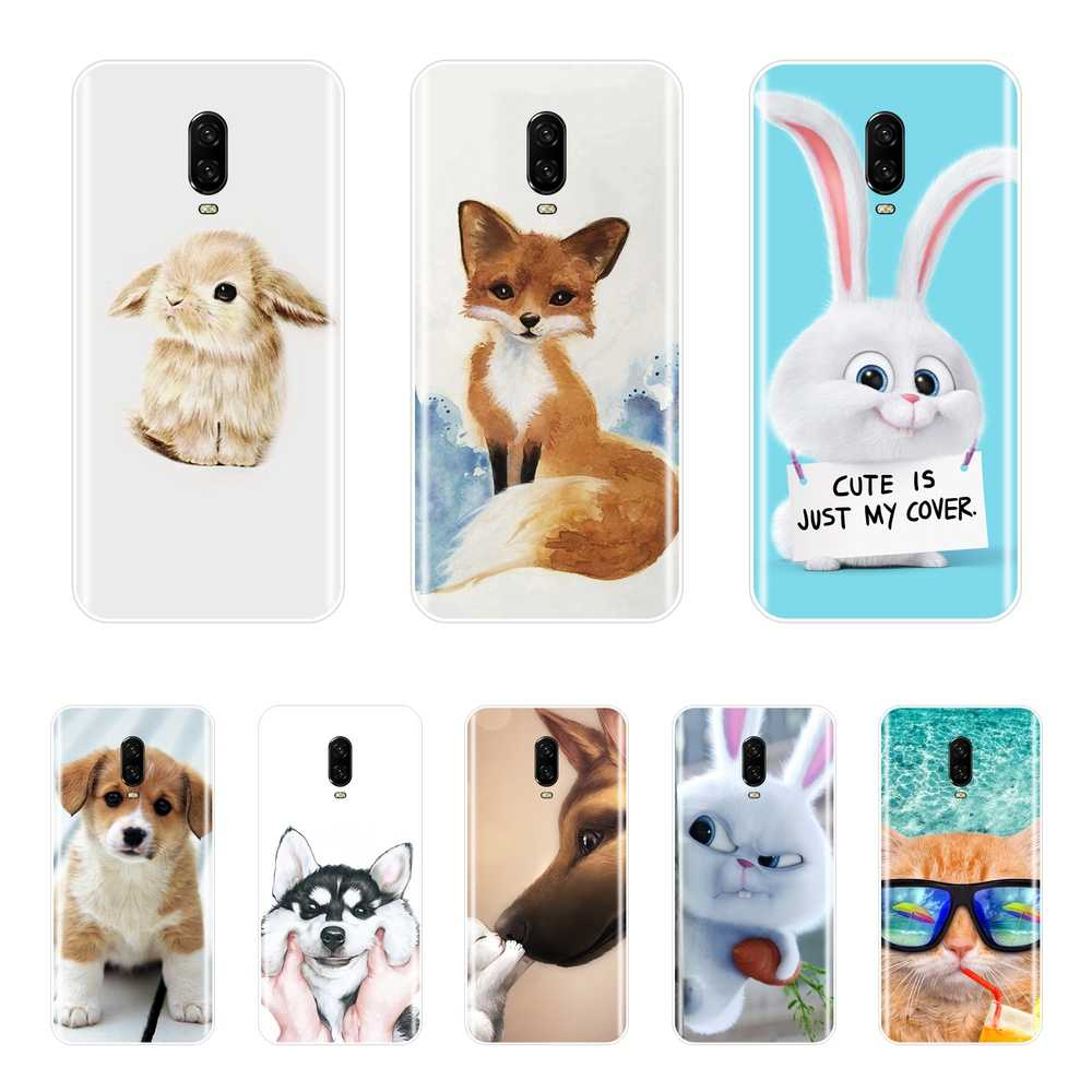 Cute Animal Silicone Case For OnePlus 5 5T 6 6T 3 3T Soft TPU Fundas Coque Back Cover For One Plus 3 3T 5 5T 6 6T Phone Case