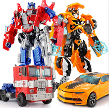 Transformation Robot Car Toys Anime Series Optimus Prime Decepticons Robot Abs Plastic Childrens Boy Toys With Box цена 2017