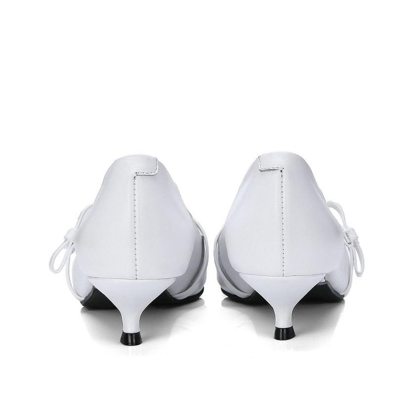 Pointu En Doux Boucle Chaussures Pompes Papillon Bout Taille Pu Femmes 34 Talons 2018 Med gris Style blanc Cuir Vache Mince Noir 41 Esveva noeud qCwATvxw