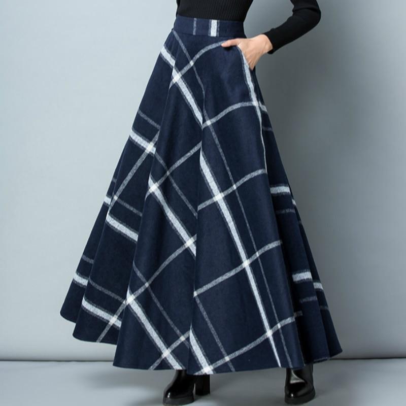 Jupes Vêtements Bureau Femmes 2 Laine Plaid 1 4 Lady Et Automne Marque Stretch 79216 5 Filles Taille Femelle D'hiver 7 2018 6 3 Nouveau Épaisse wxqOanXHZA