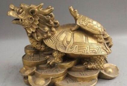 9 Chinese Fengshui Ottone Drago Tartaruga Tartaruga Madre Figlio Ricchezza Ricco Statua9 Chinese Fengshui Ottone Drago Tartaruga Tartaruga Madre Figlio Ricchezza Ricco Statua