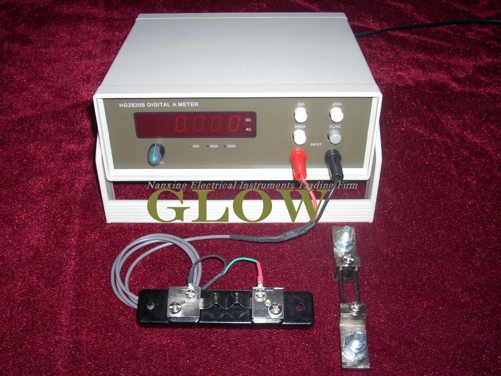 Fast arrival Desktop GLOW28220 4 1/2 digital AC/DC High Current meter High Current tester 400A/500A/1000A/2000A