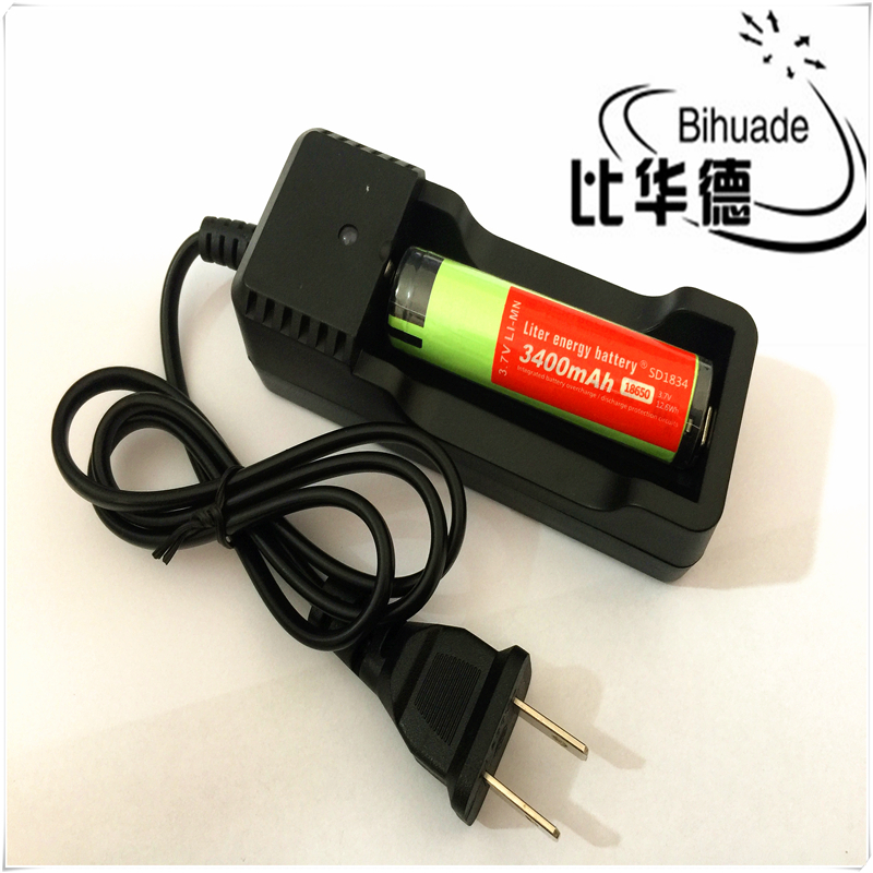 BIHUADE 18650 Battery Charger Fast Charging for18650 14500 Li-Ion Batteries ...