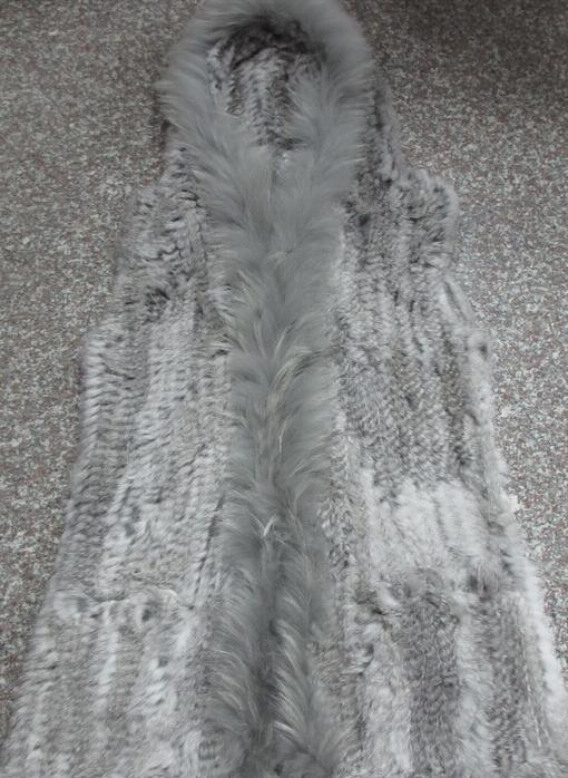 Long Lapin Tricoté De Crochet Gilet Manches Cardigan Laveur Gilets Capuche Sans Fourrure Col Grande Taille Garniture À Raton Brun dCSdr