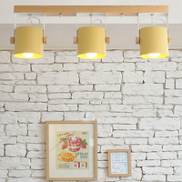 shopcase show room Ceiling Lights Wood Iron Ceiling Lamp Led Luminaria For Dining Room Living Room study Commercial lighting