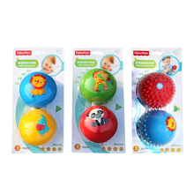 CCINEE 2Pcs/Set 7.5cm Baby Ball Toys Souding Colorful Child touch hand ball toy baby Learning Grasping soft ball Kids Gift