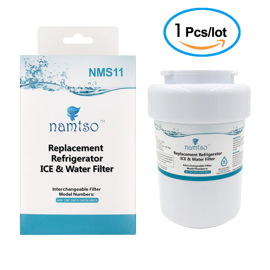 Namtso <font><b>Refrigerator</b></font> <font><b>Water</b></font> <font><b>Filter</b></font> Smartwater Cartridge for GE MWF GWF Smart <font><b>Water</b></font> MWFP WF287 WSG-1 46-9991 NMS11 1 Piece