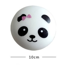 New Arrived Vivid cute Novelty Emulational Panda Can Be Pressed Slow Rising Soft Release Pressure Strap Baby Toy Gift