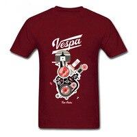 Fijne Comfortabele cottton T-shirts Grappige Heren Vespa New York Korte Mouwen Kleding Ronde Kraag Man Gedrukt Kleding T-shirts