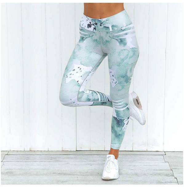 Gym Ropa Yoga Pants Printing Sports Leggings Fitness Running Tights Women Breathable Quick Dry Sportwear mallas deportiva mujer