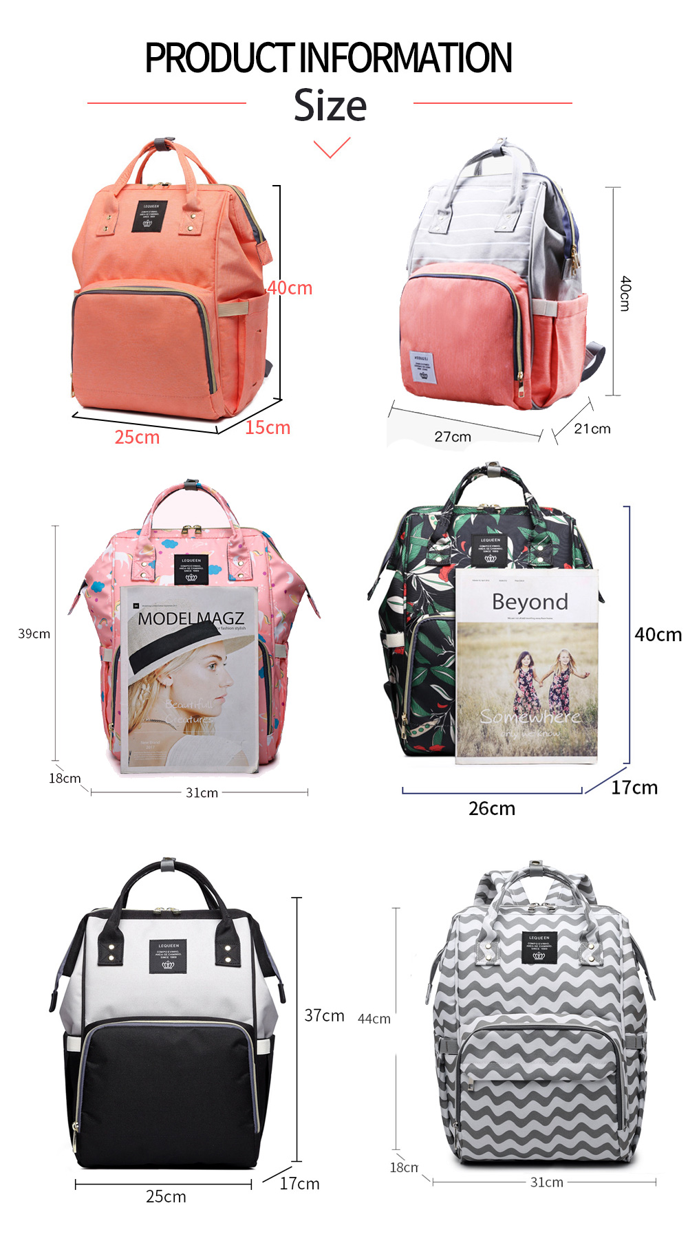 HTB1wYZ8XojrK1RkHFNRq6ySvpXab Fashion Mummy Maternity Nappy Bag Large Capacity Baby Bag Travel Backpack Nursing Bag for Baby Care Nappy Hand Bag