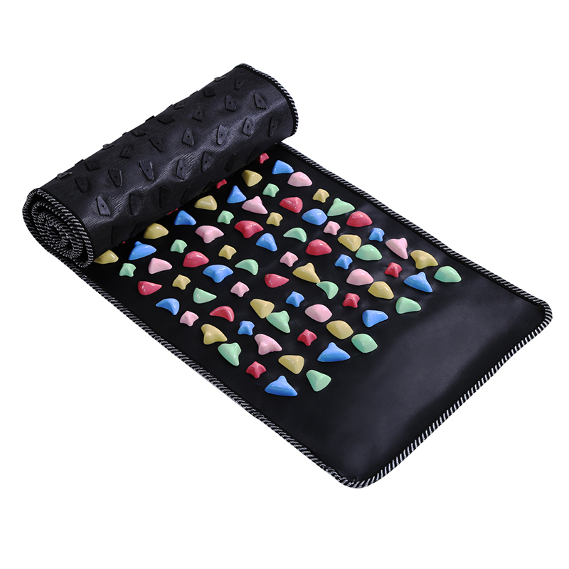 Reflexology Walk Stone Foot Massage Mat Walk Cobblestone Acupoint Massager Artificial Leather+Plastic Health Care Remove Toxin natural stone cobblestone foot massage pad foot massage device stone pad blanket mat plate
