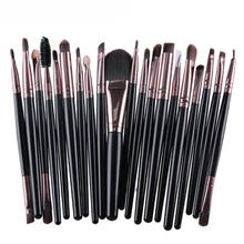 Graceful 20 pcs Professional Makeup Brush Set tools Make-up Toiletry Kit Wool Eyeliner Powder All in One Make Up Brush Set JUN17