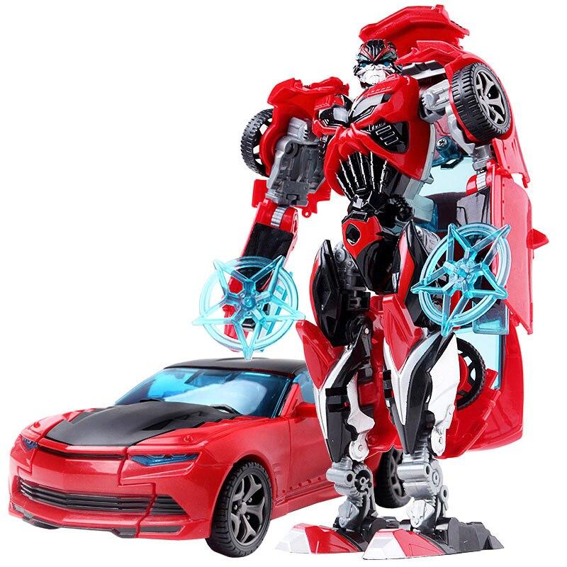 19 см трансформация автомобиля Робот Игрушки Шмель Оптимус Прайм Мегатрон Десептиконы Джаз Коллекция фигурка подарок для детей - Цвет: D