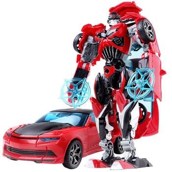 19cm Transformation Car Robot Toys Bumblebee Optimus Prime Megatron Decepticons Jazz Collection Action Figure Gift For Kids - D