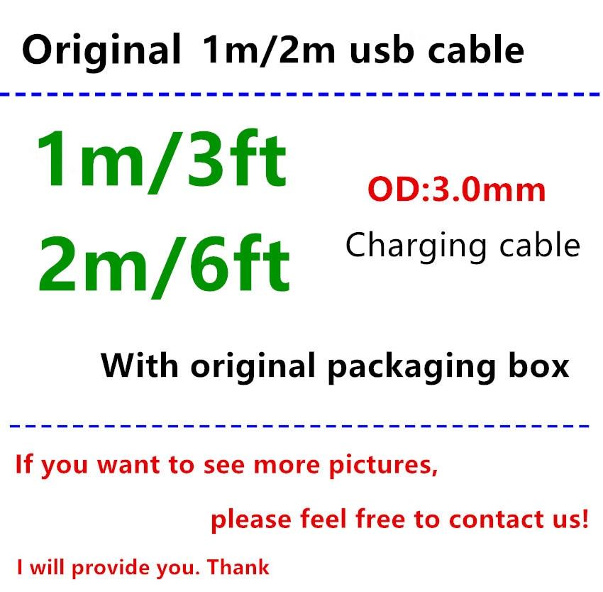 500 Set lot OD 3 0MM 1 1 high quality 1m 3ft 2m 6ft USB Data