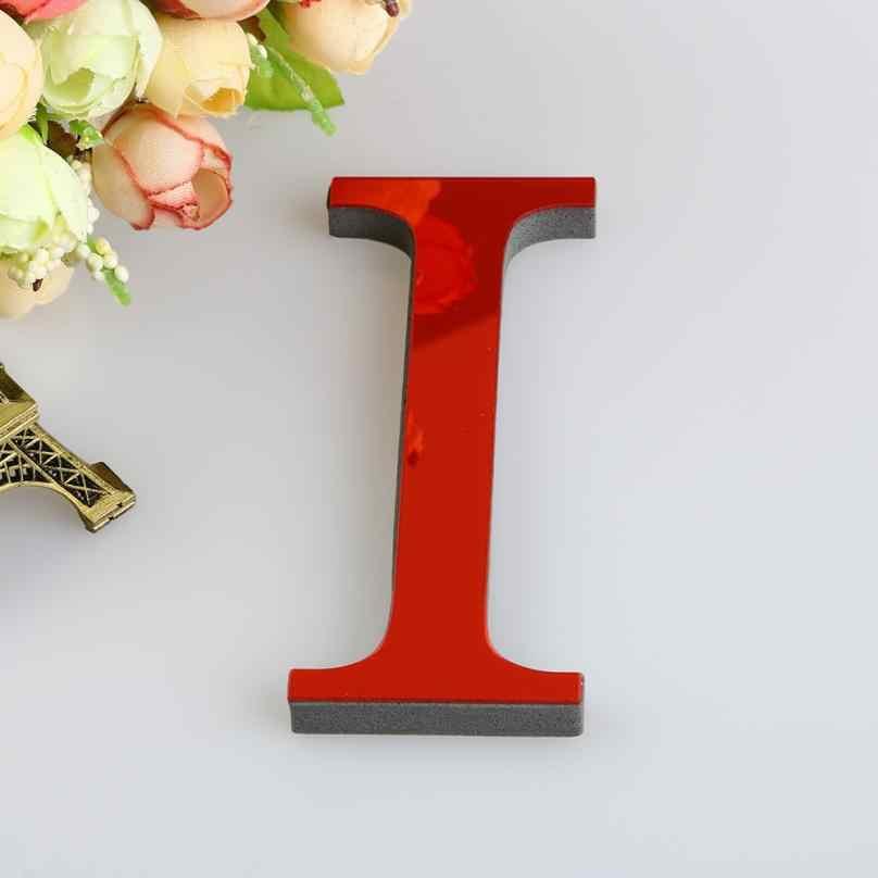 26 chữ cái DIY 3D Tráng Gương Hồng Decal Dán Tường Acrylic Có Gương trang trí Dán Tường Đề Can Gương chữ Bảng Chữ Cái Trang Trí