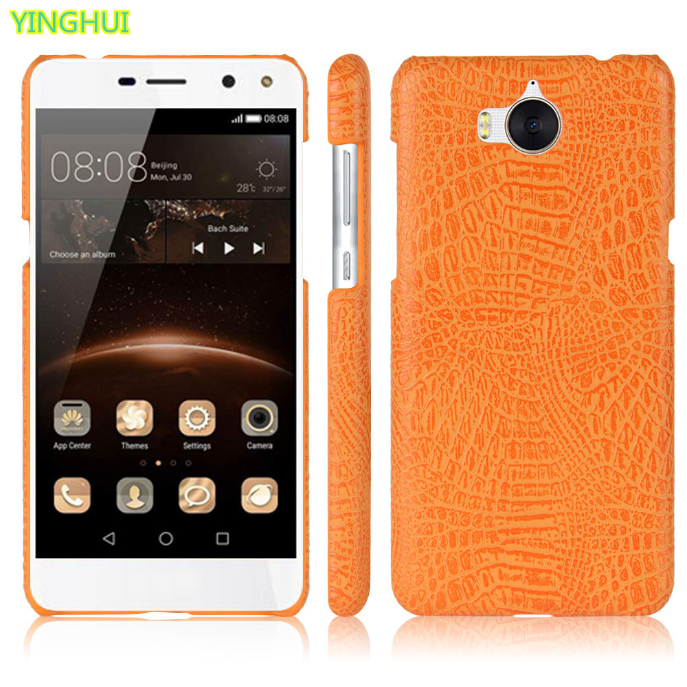 US $2 99  Huawei Y6 2017 phone bag case Luxury Crocodile Skin PU leather  Protective Case Cover For Huawei Y6 2017-in Fitted Cases from Cellphones &