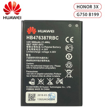 HuaWei 100% Original HB476387RBC Battery For Huawei Honor 3X G750 B199 Replacement Phone Batteria 3000mAh Real capacity Akku