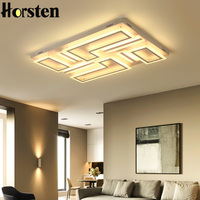 Horsten Living Room Bedroom Study Room Led Chandelier Lamparas Led De Techo Moderna Surface Mounted Modern